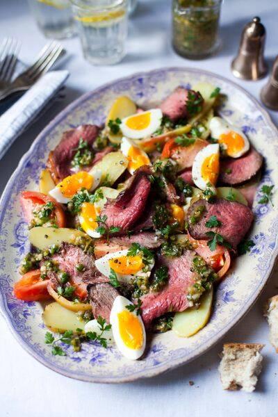 Salade française de bœuf irlandais