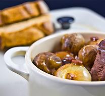 Bœuf Bourguignon et tartines à l'ail
