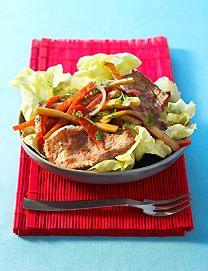 Salade tiède d'agneau au concombre